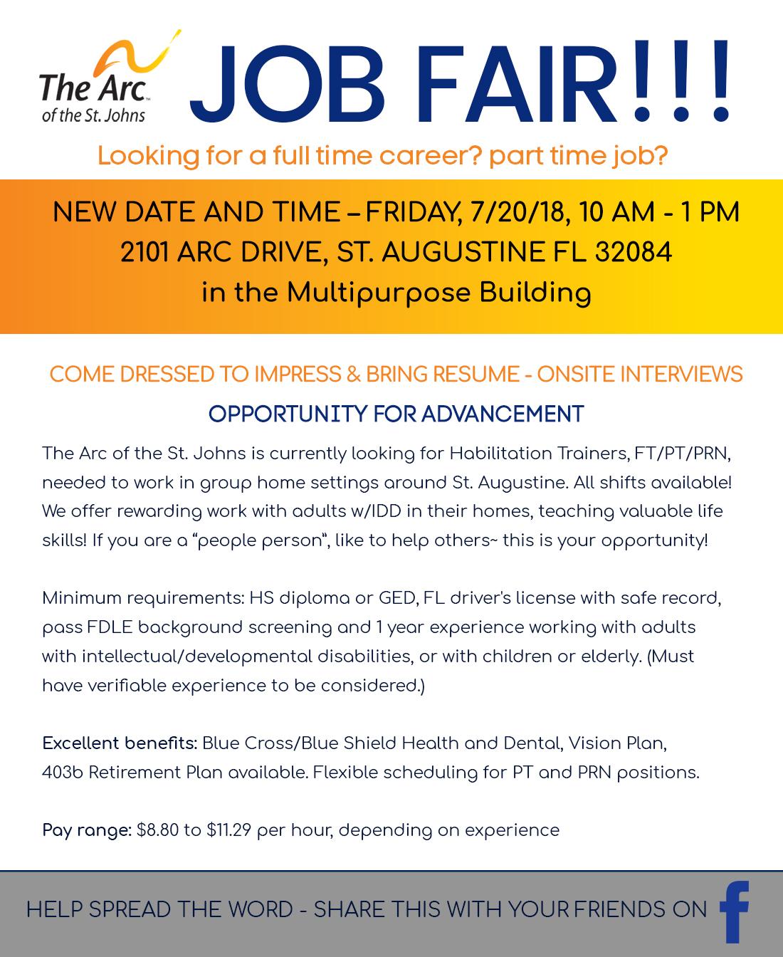 The Arc of the St  Johns Job Fair